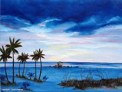 Colors On The Gulf Art Print by Lloyd Dobson