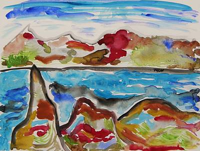 Painting - Colors, Rocks, Sea by Mary Carol Williams