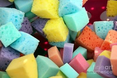 Colors Sponges Art Print