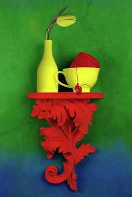 Teacup Photograph - Colors by Tom Mc Nemar
