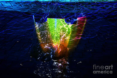 Digital Art - Colorscope Collage In Water by Clayton Bruster