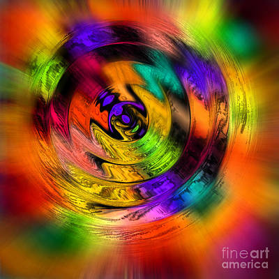 Photograph - Colorwheel Spin Two Square by Karen Adams