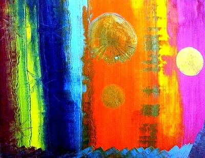 Art Print featuring the painting Colorz 1 by Piety Dsilva