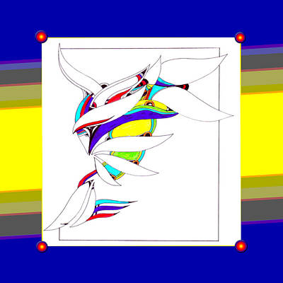 Abstract Shapes Drawing - Colorz by Jean Habeck