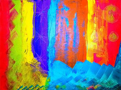 Art Print featuring the painting Colorz by Piety Dsilva
