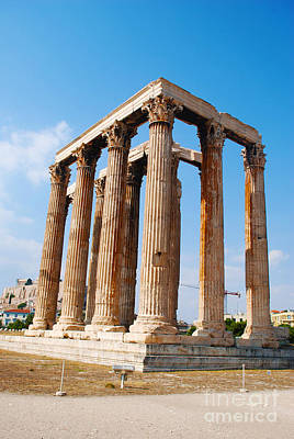 Greek Ruins Photograph - Colossal Ruined Temple Of The Olympian Zeus by Just Eclectic