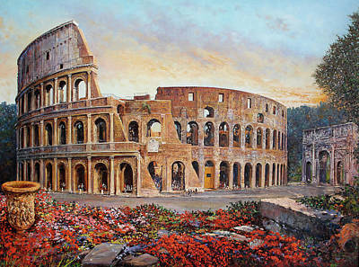 Colosseum Painting - Colosseo by Franco Puliti