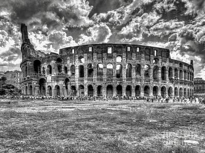 Digital Art - Colosseo Rome by Leigh Kemp