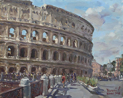 Rome Wall Art - Painting - Colosseo Rome by Ylli Haruni