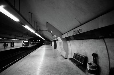 Photograph - Colosseo Station by Nacho Vega