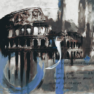 Colosseum Painting - Colosseum 432 3 by Mawra Tahreem