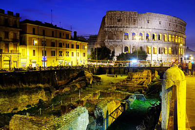 Photograph - Colosseum And The Ludus Magnus by Fabrizio Troiani