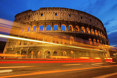 Photograph - Colosseum At Dusk by Mircea Costina Photography