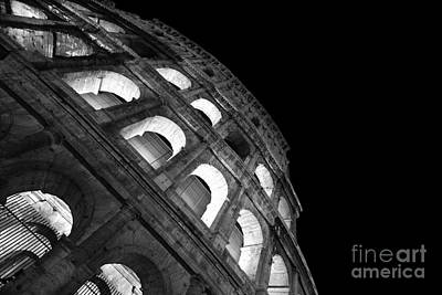 Colliseum Photograph - Colosseum By Night - Roma - Italy by Stefano Senise