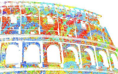 Digital Art - Colosseum - Colorsplash by Andrea Mazzocchetti