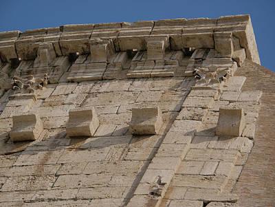 Photograph - Colosseum Cornice by S Paul Sahm