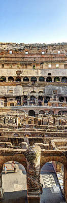 Photograph - Colosseum Cross Section by Weston Westmoreland