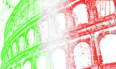 Painting - Colosseum - Digital Painting by Andrea Mazzocchetti