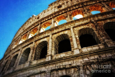 Ancient Ruins Photograph - Colosseum by HD Connelly