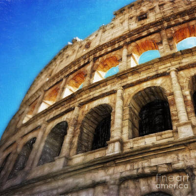 Vivid Drawing - Colosseum II by HD Connelly