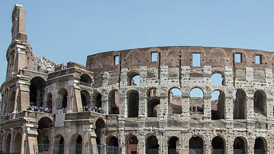 Photograph - Colosseum In Rome Day  by John McGraw