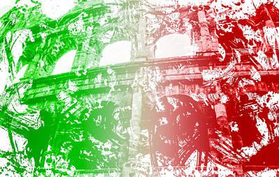Photograph - Colosseum - Italian Flag  by Andrea Mazzocchetti
