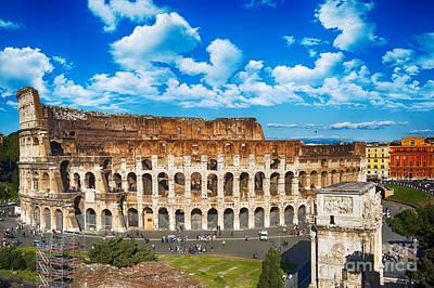 Colosseum Landscape Art Print