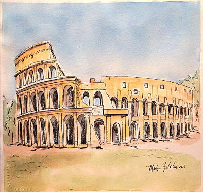 Painting - Colosseum by Marilyn Zalatan