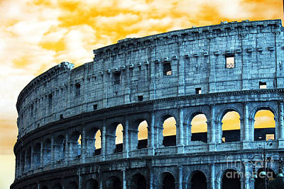 Photograph - Colosseum Pop Art by John Rizzuto