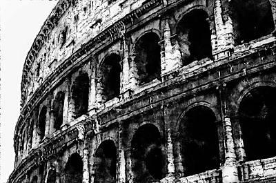 Digital Art - Colosseum, Rome - 01  by Andrea Mazzocchetti