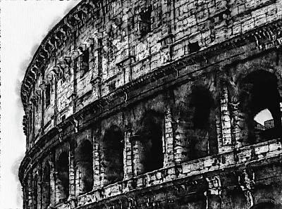 Digital Art - Colosseum, Rome - 03 by Andrea Mazzocchetti