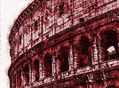 Painting - Colosseum, Rome - 04 by Andrea Mazzocchetti
