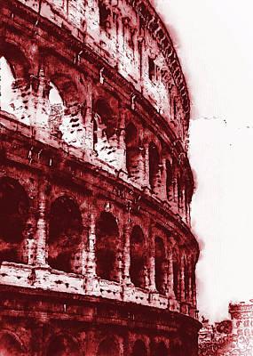 Digital Art - Colosseum, Rome - 06 by Andrea Mazzocchetti