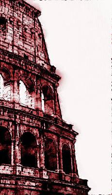 Digital Art - Colosseum, Rome - 07 by Andrea Mazzocchetti