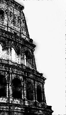 Digital Art - Colosseum, Rome - 08 by Andrea Mazzocchetti