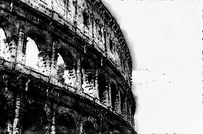 Digital Art - Colosseum, Rome - 09 by Andrea Mazzocchetti
