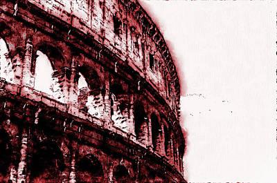 Digital Art - Colosseum, Rome - 10 by Andrea Mazzocchetti
