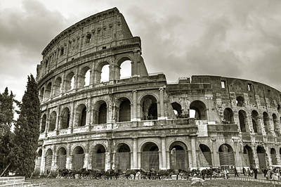 Carriage Photograph - Colosseum  Rome by Joana Kruse