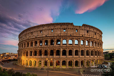 Ruin Photograph - Colosseum Twilight by Inge Johnsson