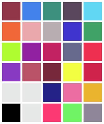 Colour Alphabet - 24 Art Print