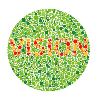 Colour Blindness Test Art Print by David Nicholls