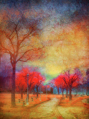 Walkway Digital Art - Colour Burst by Tara Turner