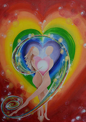 Chakra Rainbow Painting - Colour Healing by Catt Kyriacou