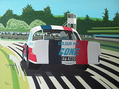 Racing Car Painting - Colour Me Gone by Kieran Roberts