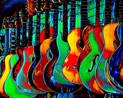 Art Print featuring the digital art Colour Of Music by Pennie McCracken
