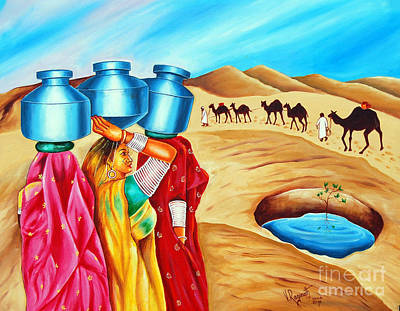 Painting - Colour Of Oasis by Ragunath Venkatraman