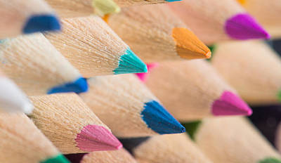 Colour Pencils 3 Art Print