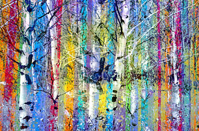 Photograph - Colour Playing In The Forest by Tara Turner