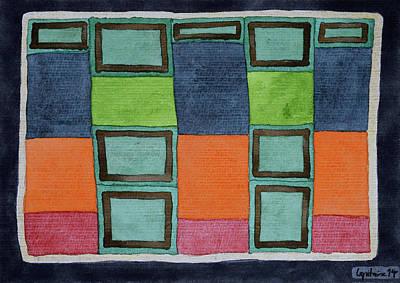 Colour Under The Desk Original by Heidi Capitaine