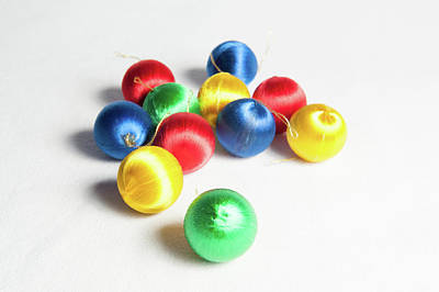 Photograph - Coloured Baubles by Helen Northcott